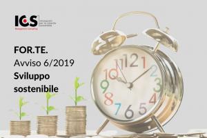 Avviso speciale 6/2019 FOR.TE. – Formazione a sostegno dei processi orientati allo sviluppo sostenibile – Intersettoriale