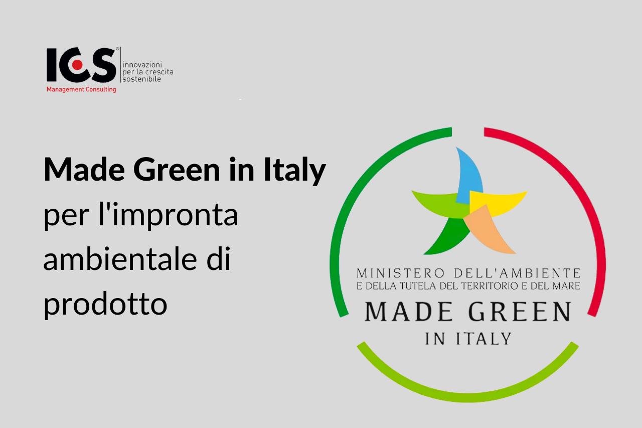 Made Green in Italy per l'impronta ambientale di prodotto